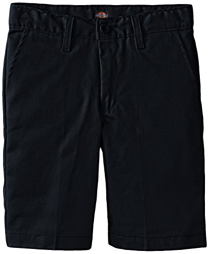 Dickies Khaki Big Boys' Flex Waist Stretch Flat Front Short, Dark Navy, 12