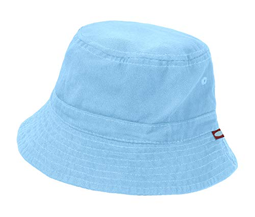 City Threads Little Boys' and Girls' Solid Wharf Hat Bucket Hat for Sun Protection SPF Beach Summer - Baby Blue - L(2T-3T) ()