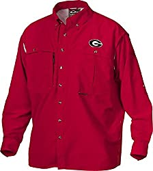 Drake Men's Georgia Long Sleeve Wingshooter Shirt (Small, Red)