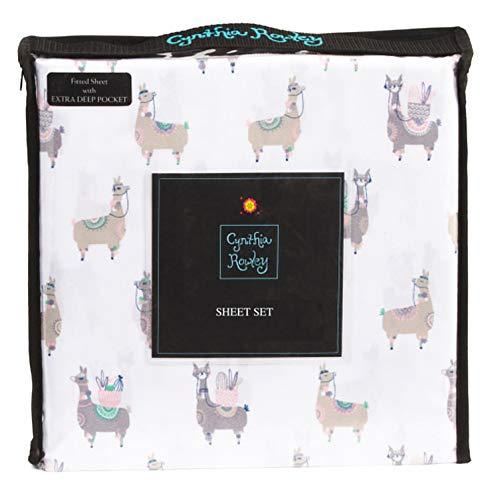 - Cynthia Rowley Whimsical Llama Themed Novelty Sheet Set (Twin XL)