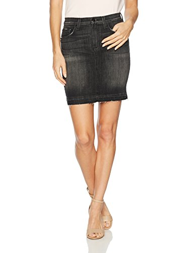 Hudson Jeans Women's Robbie Midrise Denim Pencil Skirt With Released Hem, Black, 27 (Rise Denim Pencil Skirts)