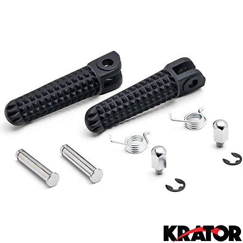 Yamaha Yzf R6 Rear (Krator® Black Front Foot Rest Pegs for Yamaha YZF R1 R6 R6S FZS 600 TDM 900 XJ Diversion Black Motorcycle Foot Pegs Footrests Left &)