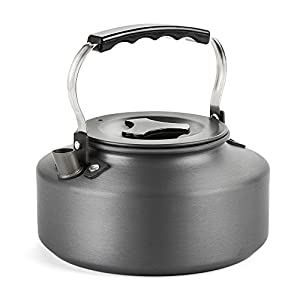 Docooler 1.1L Portable Ultralight Camping Water Kettle Outdoor Coffee Pot For Hiking and Picnic