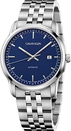 Calvin Klein Reloj Analógico para Hombre de Automático con Correa en Acero Inoxidable K5S3414N: Amazon.es: Relojes
