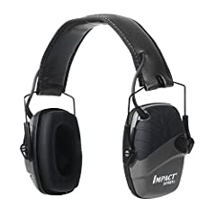 At the range or on the hunt, the Howard Leight by Honeywell Impact Sport Sound Amplification Electronic Shooting Earmuff keeps you protected from hazardous noise and connected to your environment. It carries a Noise Reduction Rating (NRR) of ...