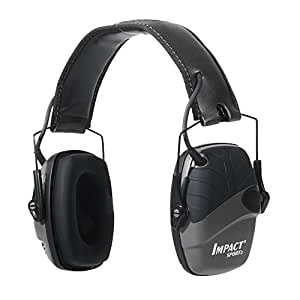 Howard Leight by Honeywell Impact Sport Sound Amplification Electronic Shooting Earmuff, Black (R-02524)