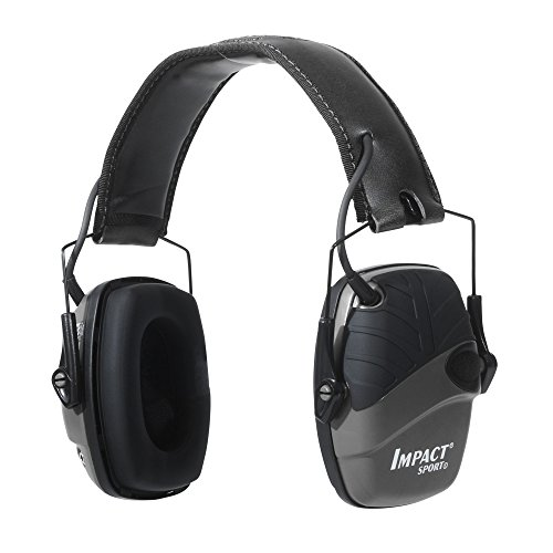 Howard Leight by Honeywell Impact Sport Sound Amplification Electronic Shooting Earmuff, Black (R-02524) (Gun Indoor Range)
