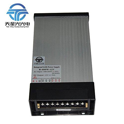 - TXG Ac-Dc 12V LED Power Supply 600W 50A Constant Voltage Rainproof Outdoor Use (12V 600W)