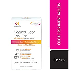 vH essentials Odor Treatment - pH Balanced Vaginal Suppositories - 6 Tablets With Applicator 16