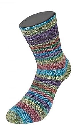 Lana Grossa Meilenweit Colorado 6905 - Ovillo de lana para tejer calcetines (100 g)