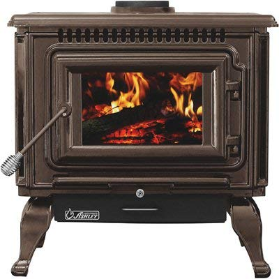 (Ashley XL Porcelain Enamel Wood Stove — Mahogany, 112,000 BTU, EPA Certified, Model# AWC31M)