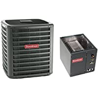 1.5 Ton Goodman 14 SEER R410A Air Conditioner Condenser with 14 Wide Vertical Cased Evaporator Coil