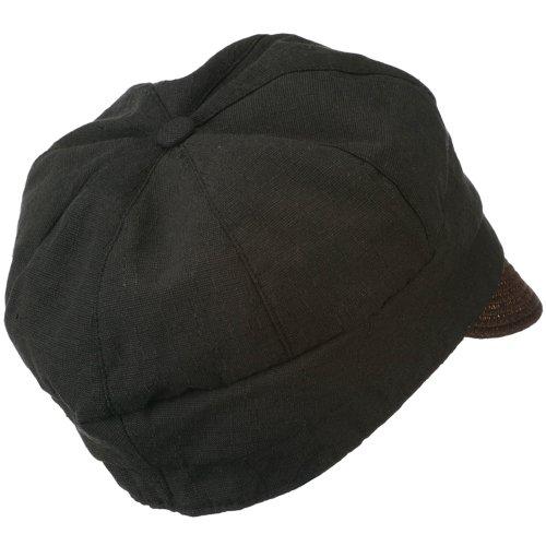 0647863f016 Women s Paper Straw Brim Crushable Cabbie Hat - Black OSFM at Amazon Men s  Clothing store  Newsboy Caps