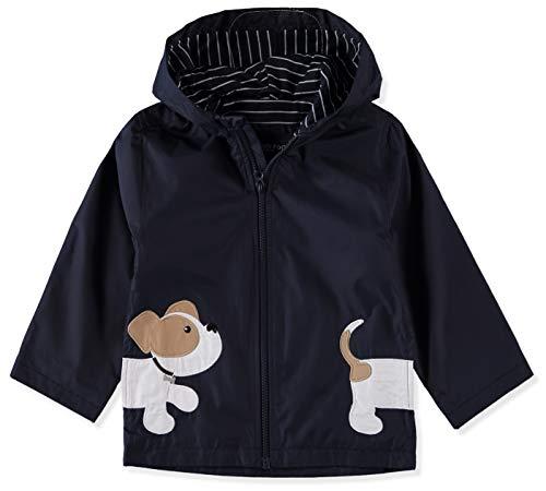 London Fog Boys' Toddler Little Animal Rainslicker Rain Jacket, Navy Puppy, ()