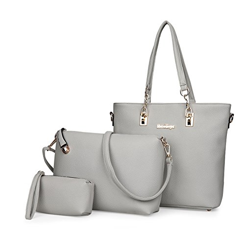 Sets Handbag Gray Handle Zip A Womens amp;n fw46qxXnI
