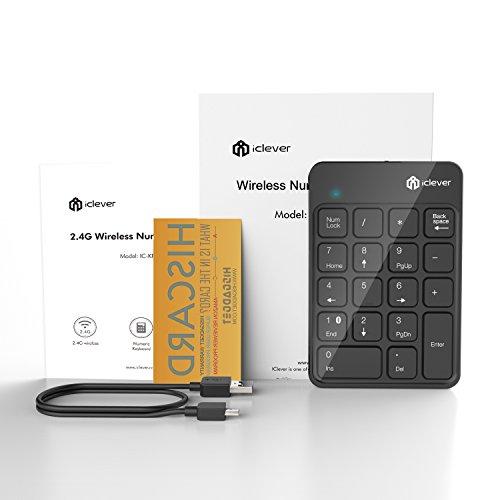 IClever 18-Key Wireless Numeric Keypad Bluetooth Numeric