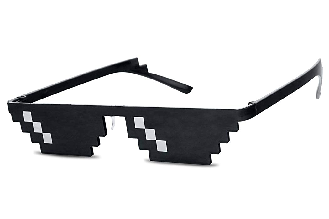 Apparel Accessories Fast Deliver Thug Life Sunglasses Men Minecraft Glasses Men Women Funny Shades 8 Bits Pixel Mosaic Glasses With Case Great Varieties Men's Glasses