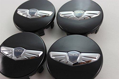 Hyundai Motors Genuine 3.8 V6 KDM Wing Emblem 18 Wheel Cap 4-pc Set For 2008 2009 2010 2011 2012 Hyundai Genesis SEDAN