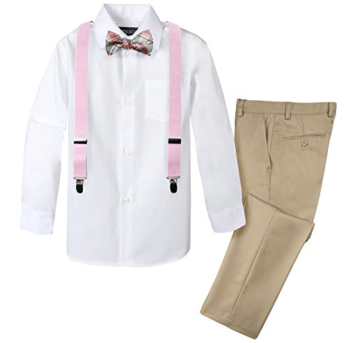 Spring Notion Boys' 4-Piece Dress up Pants Set 3T