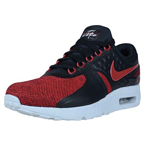 Nike Mens Air Max Noll Sig Löparskor Svart / Tuff Röd-ren Platina
