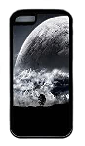 for iphone 5c Case Big Planet TPU Custom for iphone 5c Case Cover Black