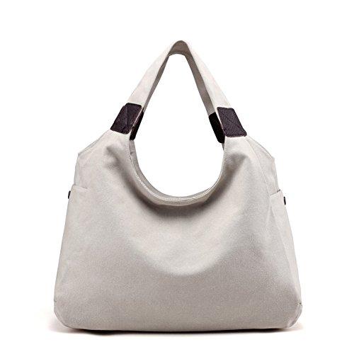Womens borse,singola spalla /borsa di tela,borsa tempo libero-bianca grande