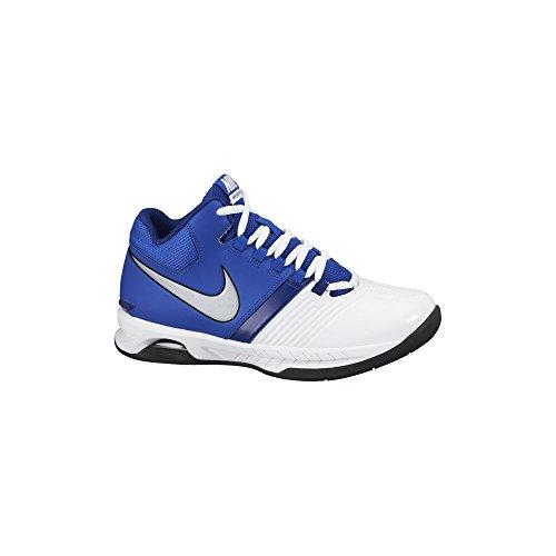 Aire Visi Pro V zapatillas de baloncesto White/Game Royal/Metallic Silver