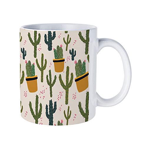 DKISEE Vegas Cactus Coffee Mug Novelty 11oz Ceramic Mug Cup Birthday Christmas Anniversary Gag Gifts Idea