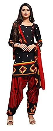 EthnicJunction Women Crepe Un-Stitched Dress Material