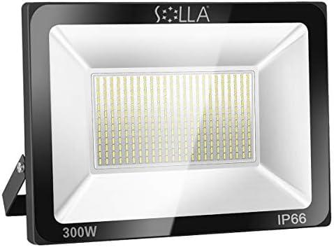 Foco LED 300W IP66 Luz de Seguridad Exterior Impermeable, 24000LM, Luz Blanca 6000K, Foco Exterior de Pared para Patio, Garaje, Almacén, Parking, Jardín, Carreteras, Calles, Plazas, etc: Amazon.es: Iluminación