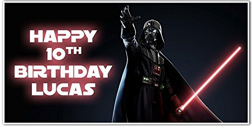 Star Wars Darth Vader Birthday Banner Personalized Party Backdrop -