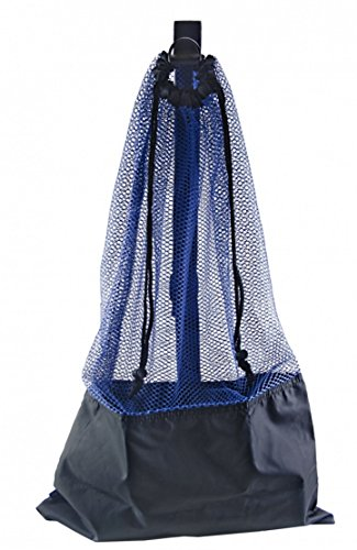 (BLUE SNORKEL BAG! MESH DRAW STRING W/ SHOULDER STRAP)
