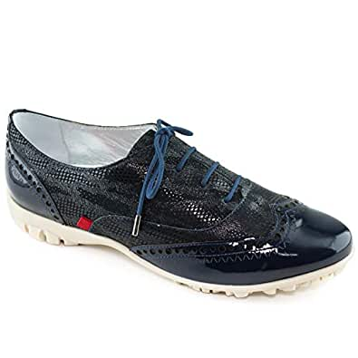 MARC JOSEPH NEW YORK Womens Genuine Leather Made in Brazil Golf NYC Laceup Performance Fashion Shoe Blue Size: 6