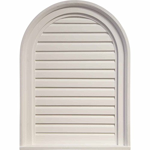 Ekena Millwork GVCA18X24D Decorative Cathedral Gable Vent Louver