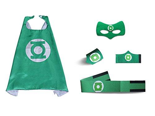 Child Super Hero Green Lantern Costume Cape Mask Set for Kids Birthday (Green Lantern Costumes For Sale)