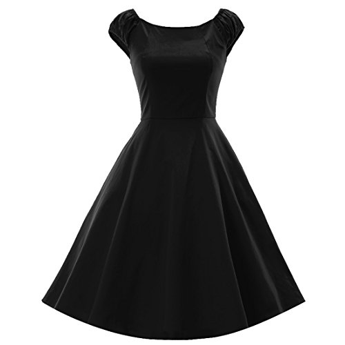 40s black tie dress - 9