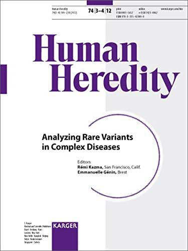 Analyzing Rare Variants in Complex Diseases (Human Heredity)
