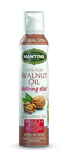 Mantova 100% Walnut Oil Spray 5 oz. Spray Bottle - Manage Oil Amount - Great For Salads & Cooking