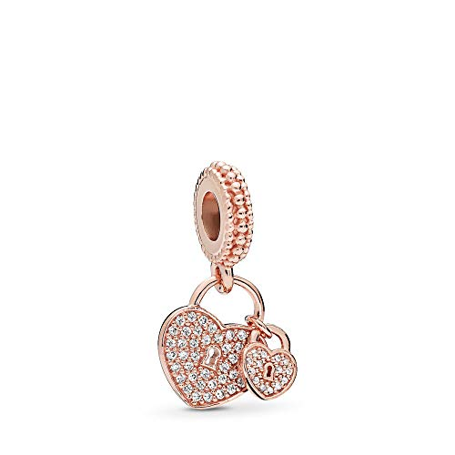 PANDORA Love Locks Dangle Charm PANDORA Rose Clear Cubic Zirconia One Size