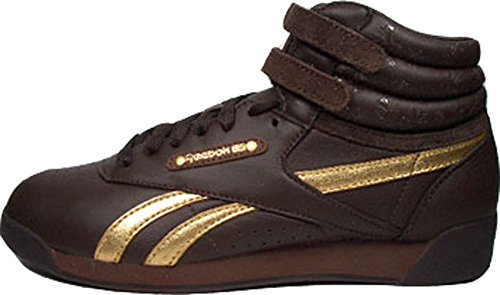 Reebok Freestyle Hi oro dorato j02985 taglia 39/US 8.5/UK 6/10 cm