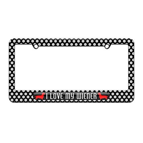 daschund license plate frame - 6