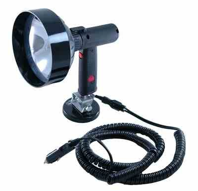 5 million Candlepower 12 Volt Spotlight with Magnetic Base - HML-8(-5 inch-12vdc) by Larson Electronics