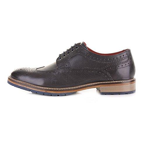 Base London Schuhe Herren schnürbänder Perforiert Inglese Mens Leder Hintergrund Gunni Black