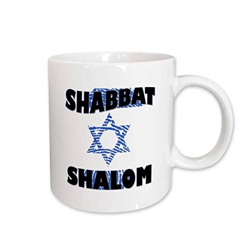 3dRose 237091_1 Shabbat Shalom Mug, 11 oz