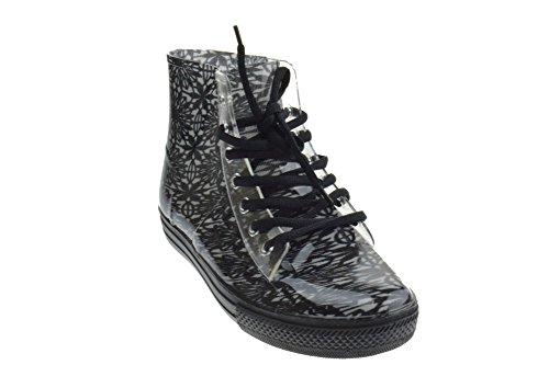 W 501 Womens Fashion-sneakers Met Veters In De Kleur Zwart / Wit