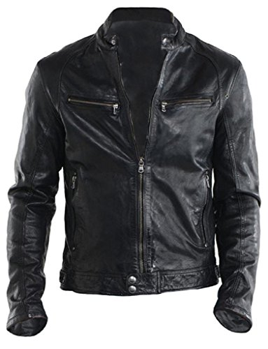 Cheap Leather Motorcycle Jackets For Men - 7