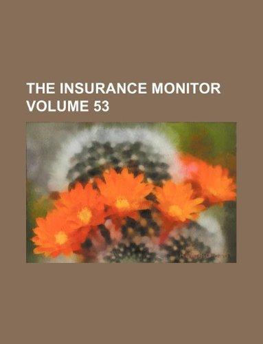 The Insurance monitor Volume 53 Pdf