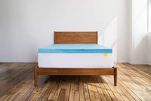 Revel 3-Inch Cool Swirl Gel Memory Foam Mattress Topper (Queen), Made in the USA with a 1-Year Warranty, Amazon Exclusive