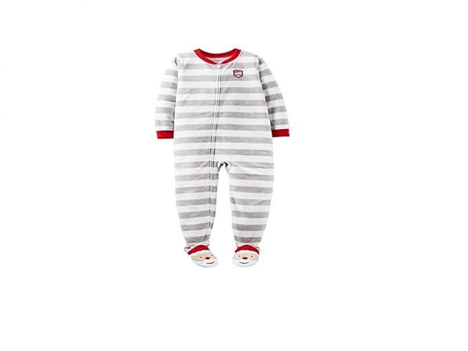 4fb54c2cde29 Amazon.com  Carter s Baby Christmas Santa s Helper Fleece Footie ...