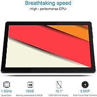 Padgene M9 Android Tablet 10.1 Pulgadas con WiFi Bluetooth4.0 GPS Ranura para Tarjeta Dual Sim Doble Cámara Ultra Slim Tablet PC Quad Core MTK 6580 ...